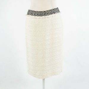 Ivory black DD COLLECTION pencil skirt 4